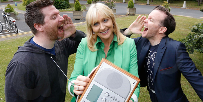Dermot & Dave from 98FM and Miriam O'Callaghan from RTÉ Radio